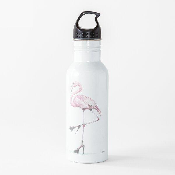 flamingo in stilettos Water Bottle