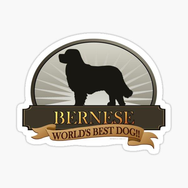 World's Best Dog - Bernese Mountain Dog Sticker