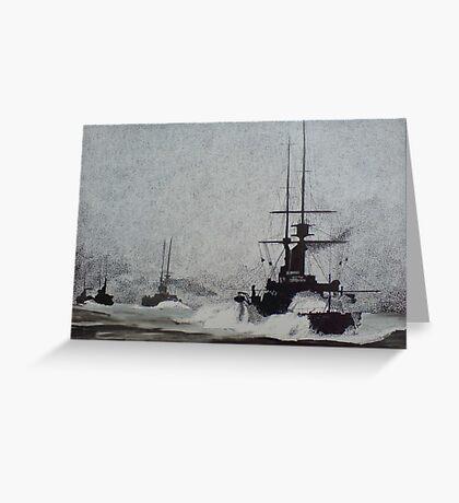 North Sea Convoy Greeting Card