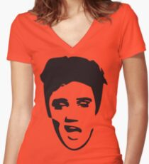 elvis t-shirt Women's Fitted V-Neck T-Shirt