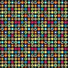 Poke-A-Dots - Black [iPhone case] by Damienne Bingham