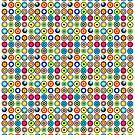 Poke-A-Dots - White [iPhone case] by Didi Bingham