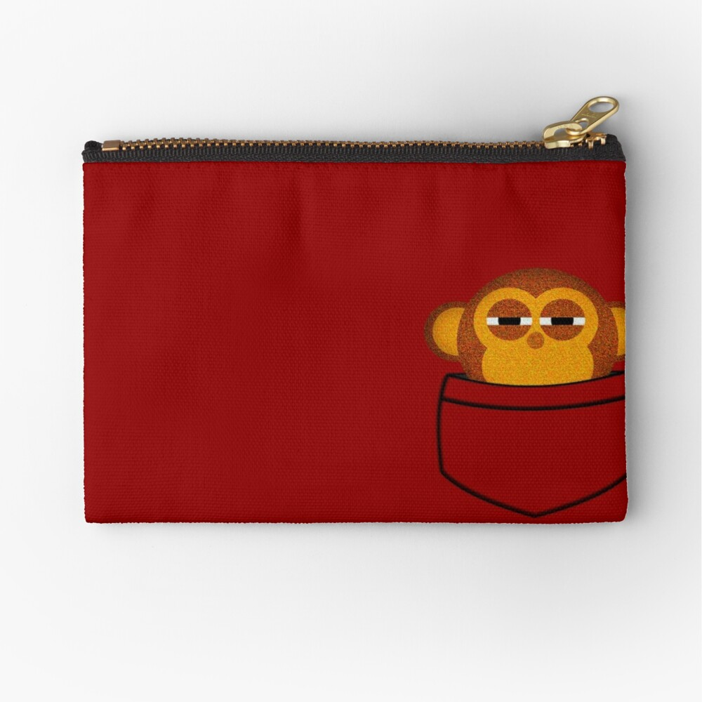 Pocket monkey is highly suspicious Zipper Pouch