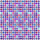 Poke-A-Dots - Purple Negative [iPhone case] by Didi Bingham