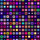 Retro Squares - Black [iPhone case] by Didi Bingham