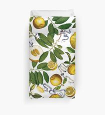Lemon Tree - White Duvet Cover