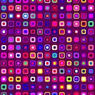 Retro Squares - Magenta [iPhone case] by Didi Bingham