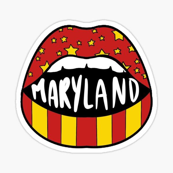 Maryland Lips Sticker