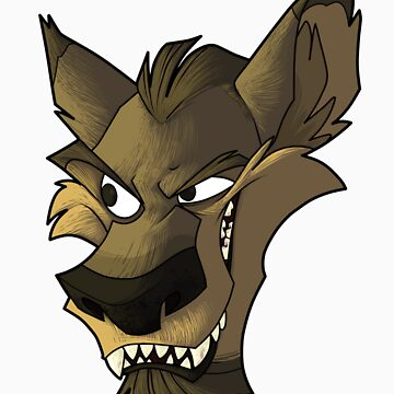 Brown wolf head with shading by Encsi-gryphon