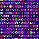 Retro Squares - Indigo [iPhone case] by Damienne Bingham