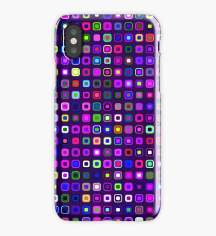 Retro Squares - Indigo [iPhone case] iPhone Case/Skin