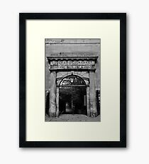 Stockbridge Market entrance in Edinburgh Framed Print