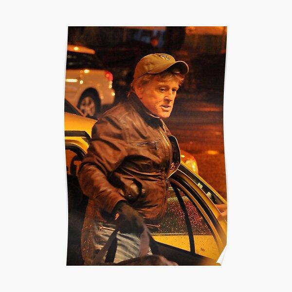 Robert Redford Filming Night Scenes Poster