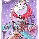 Father Christmas chimney card by dotmund