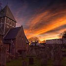 Sunrise over the Church in St.Anne on Alderney by NeilAlderney