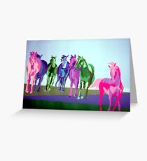 Mustangs on the Plains Greeting Card