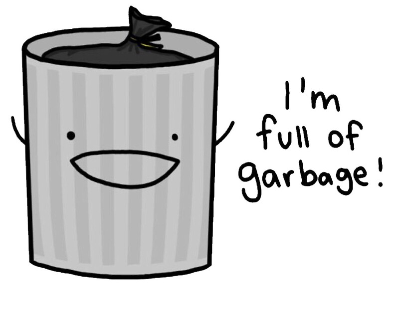 I 39 M Full Of Garbage Trash Greeting Cards By
