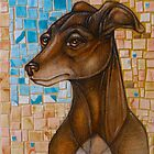 And the Hound Followed the Voiceless Dancer to the Moon (The Italian Greyhound) by Lynnette Shelley