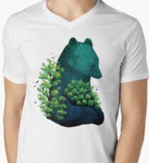Nature's Embrace Men's V-Neck T-Shirt