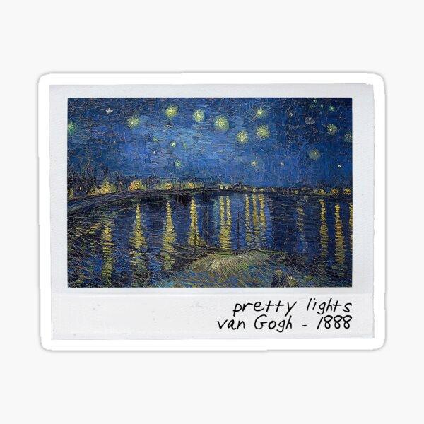 van gogh - pretty lights polaroid Sticker