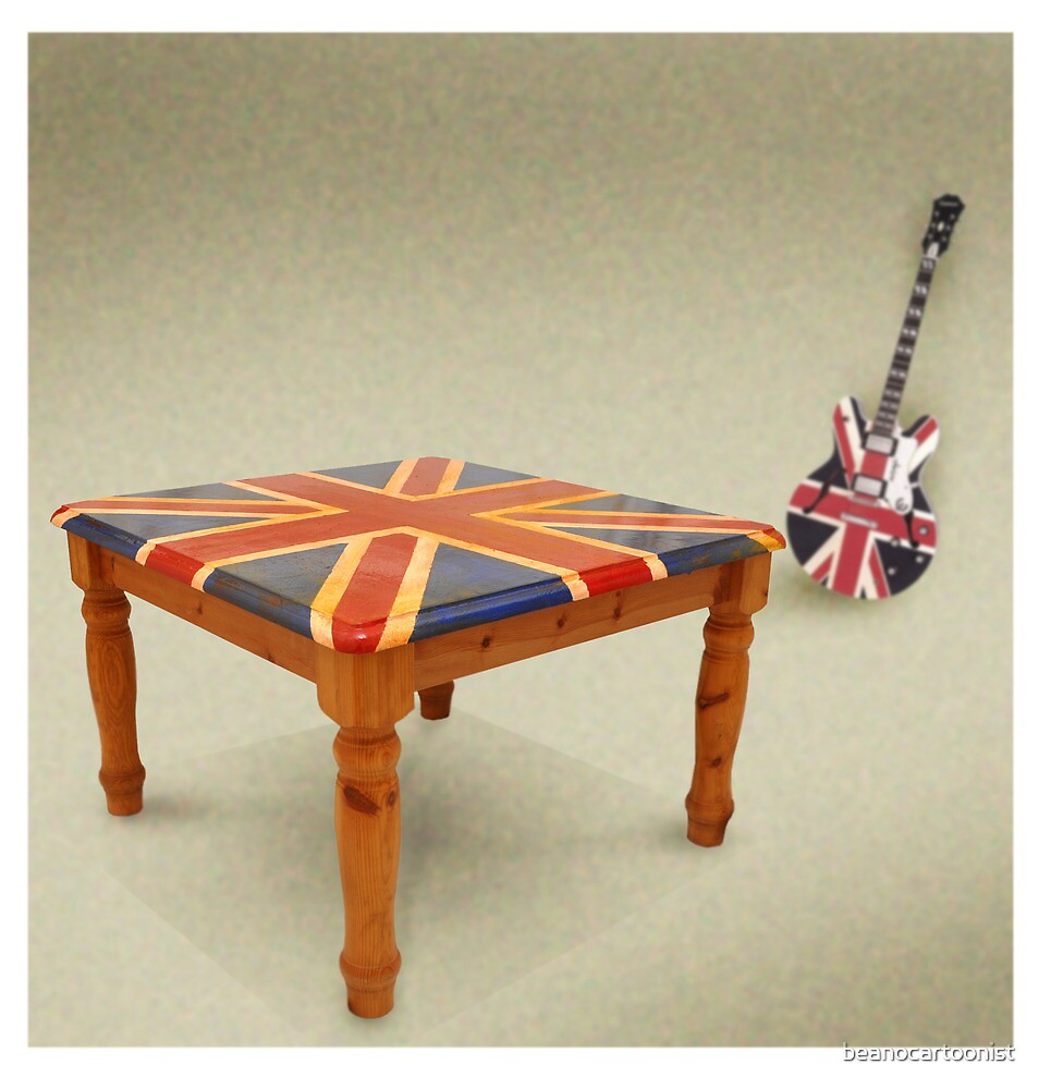 Union Jack table by beanocartoonist