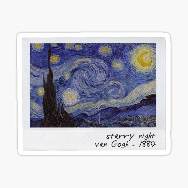 van gogh - starry night polaroid Sticker
