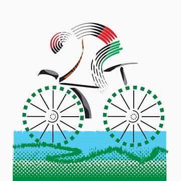 cyclist by sarandis