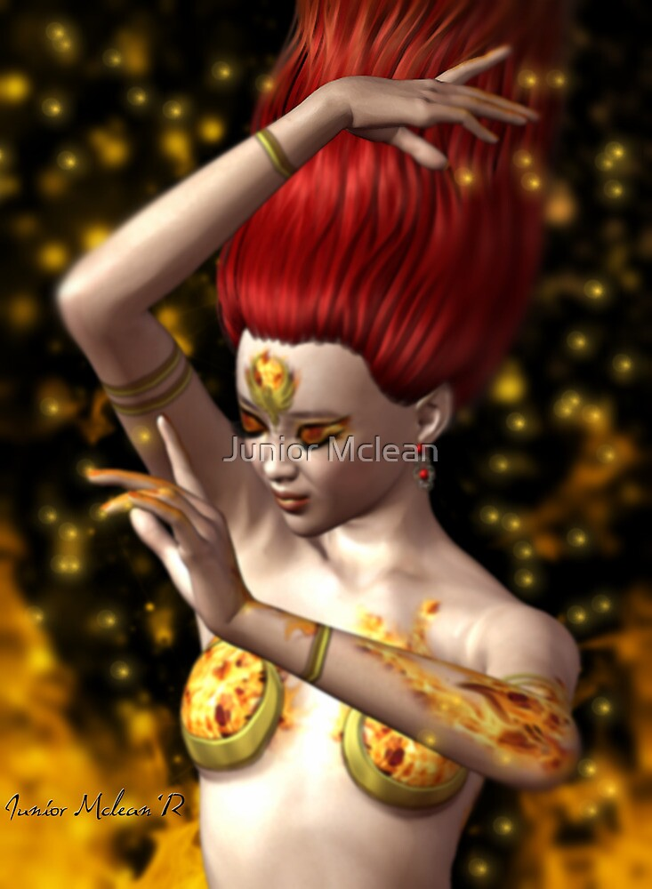 The Fire Oracle's Enchanted Dance by Junior Mclean
