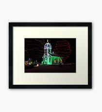 Church Decorated for Christmas Framed Print