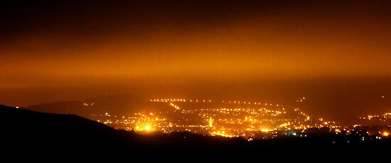 Glossop by Night by Mark Smitham