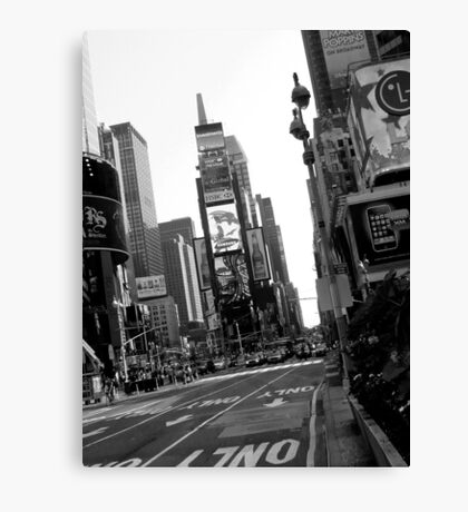 Times Square Black & White Canvas Print