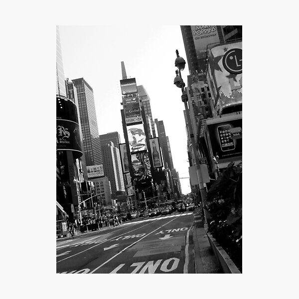 Times Square Black & White Photographic Print