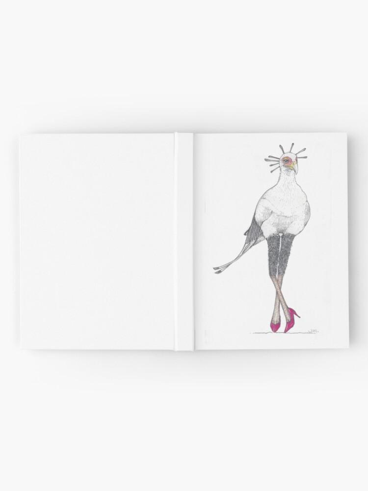 Alternate view of Secretary bird in red high heels Hardcover Journal