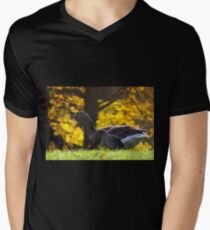Geese in Autumn Men's V-Neck T-Shirt