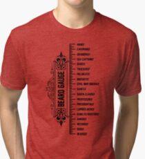 The Beard Gauge Tri-blend T-Shirt