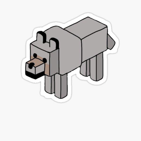 Minecraft Wolf Design Pegatina