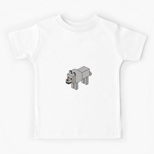 Minecraft Wolf Design Kids T-Shirt