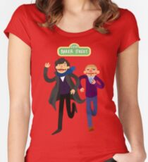 Puppety Sherlock and John Women's Fitted Scoop T-Shirt