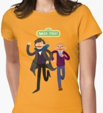 Puppety Sherlock and John Women's Fitted T-Shirt