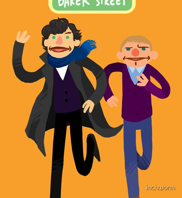 Puppety Sherlock and John by inchworm