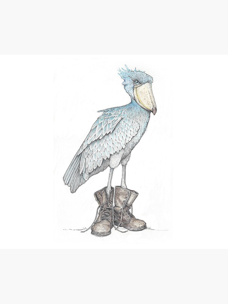 Shoebill in work boots by JimsBirds