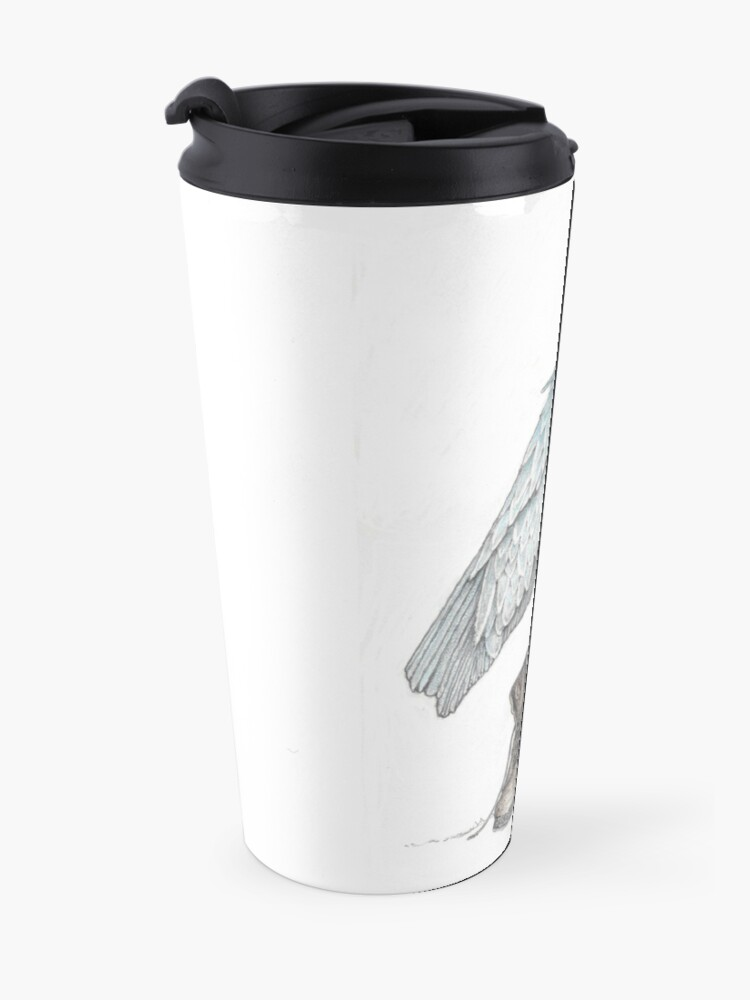Alternate view of Shoebill in work boots Travel Mug