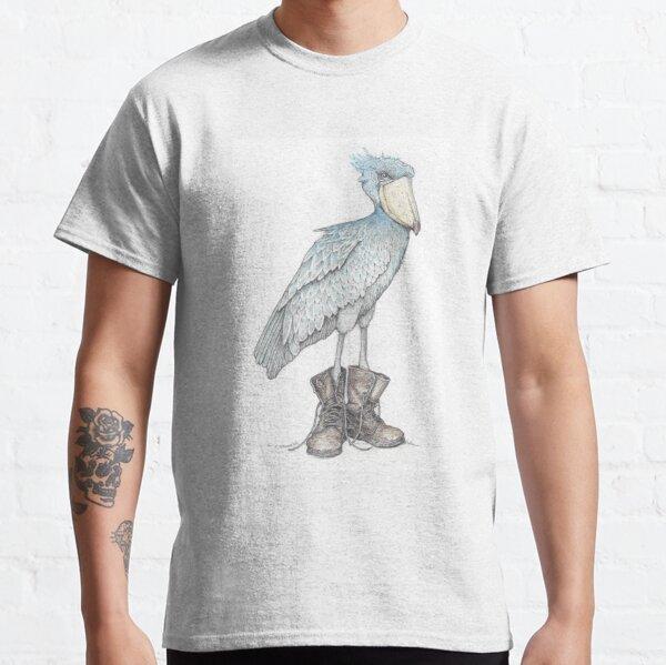 Shoebill in work boots Classic T-Shirt