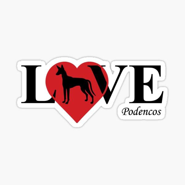 Podenco LOVE Pegatina