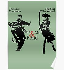 Mr. & Mrs. Pond - Doctor Who Poster