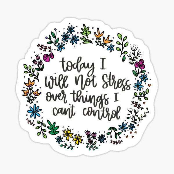Flowered quote Sticker