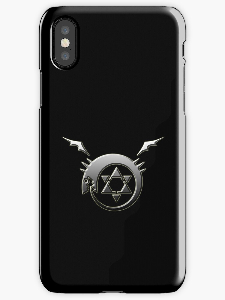 Full Metal Alchemist Ouroboros Symbol iPhone / iPod Cover - Black by Aaron Campbell