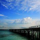 Ocean pier by Jasper Glaspie