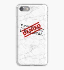 Newton's 1st Law Of Bureaucracy - Marble iPhone Case/Skin