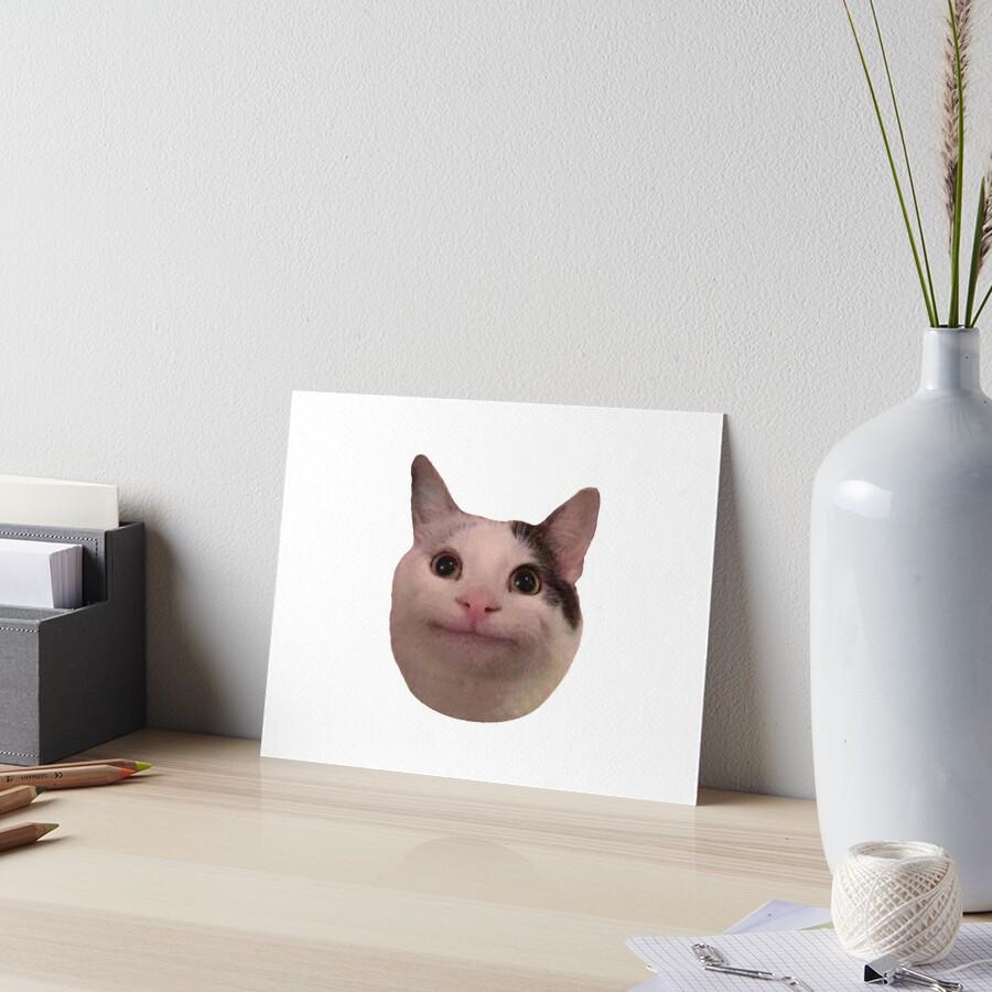 Smudge Cat Meme Art Board Print By Aktilor Redbubble